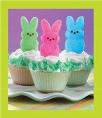 Peep Easter cupcakes!