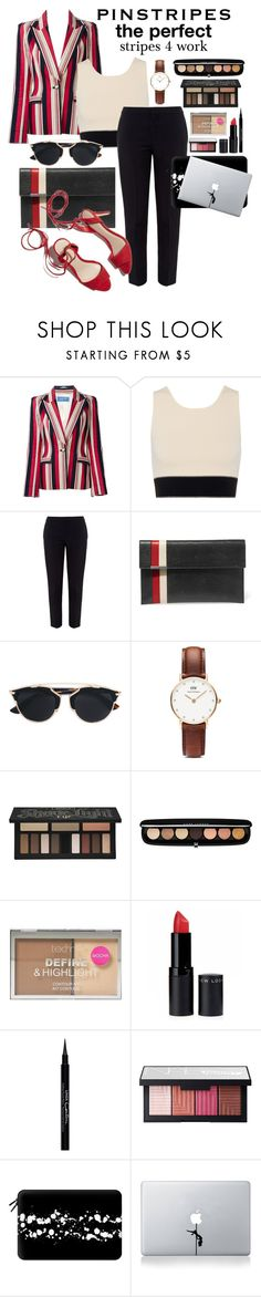 """Hard style hard work #pinstripes #pefrectstripes #perfect #stripes"" by fashiongarlx ❤ liked on Polyvore featuring Thierry Mugler, rag & bone, Chloé, Tomasini, Loeffler Randall, Christian Dior, Daniel Wellington, Kat Von D, Marc Jacobs and Boohoo"