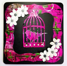 Current DT piece for Fussy & Fancy Blog - made on a Gelli Plate by Sam Crowe