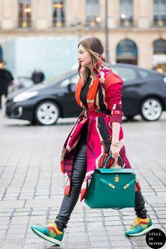 Nasiba Adilova Street Style Street Fashion Streetsnaps by STYLEDUMONDE Street Style Fashion Blog