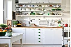 another view of the pretty white kitchen