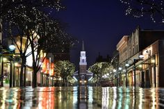 Church Street In The Rain by Shawn Hill on Capture My Vermont // Scenic Burlington... I took this one night in April after a photography class.  I was inspired by the rain to capture this shot, and was glad I did.  It's my personal favorite!