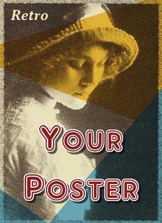 Retro poster example, created using HalftonePro. #GraphicDesign, #Illustration