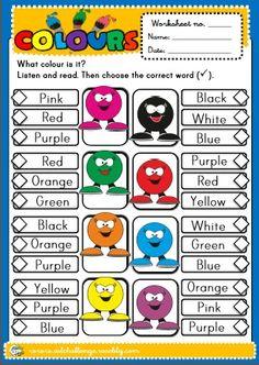 Colours - worksheet