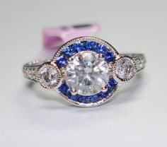 Also available in ruby, emerald, alexandrite, tanzanite, aquamarine, tourmaline, peridot, garnet, citrine, and amethyst. I can also update an existing ring with any preferred stone accents. Ed Harris Jewelry (901)361-1403
