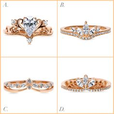 Our rose gold jewelry combines feminine appeal and luxurious romantic hues to create the perfect complement to your look. Which of these crown rings do you adore the most?
