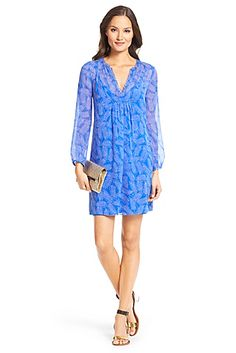 DVF Aria Chiffon Tunic Dress