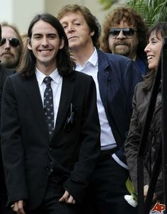 Dhani Harrison, Paul McCartney, and Olivia Arias-Harrison (Walk Of Fame Star Ceremony)