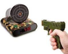 idea, gift, guns, alarm clocks, stuff, load target, cabela, gun alarm, thing