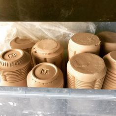 Getting it in whenever I can. mugs in progress.  Not sure how many ounces they will hold when finished.  Great for a kegger.  Just in time for Oktoberfest!  _______________________________________________________ #summerpatiostudio #oktoberfest2017 #beer #beermug #mug #ceramics #clay #pottery #pots #wip #greenware #leatherhard #process #artist #ryanreichceramics