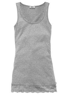 Grey Marl Vest Top by Flashlights