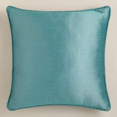 One of my favorite discoveries at WorldMarket.com: Aegean Dupioni Throw Pillow with Piping