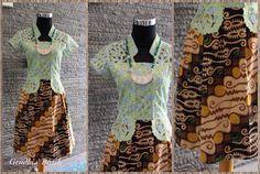 Batik Solo tulis kombinasi + lace tile Prada + Lining tricot + furing. By Gendhis Batik