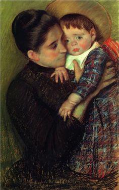 Helene de Septeuil,  1889, pastel on paper, 40.64 x 64.1 cm, The William Benton Museum of Art, Impressionism,  Mary Cassat (1844-1926).
