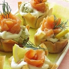 Appetizer baskets:  Thought these looked good..