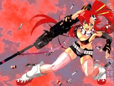 I& a simple man - started watching Gurren Lagann because of noons I saw on the poster. Rule confirmed: if you go for nicely drawn bewbs you& seldom wrong Manga Anime, Anime Art, Manga Art, Anime Figures, Anime Characters, Lagann Gurren, Gurren Laggan, Character Art, Character Design