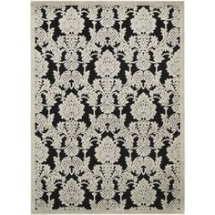 Nourison Graphic Illusions Collection Rug, Black