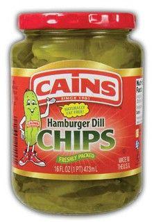 Cains Hamburger Dill Chips 16 oz.