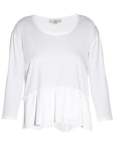 STELLA MCCARTNEY Ruffle-Hem Top. #stellamccartney #cloth #top