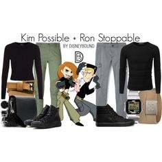 Disney Character Costume Kim Possible and Ron Stoppable Disneybound outfits - disneybound Kim Possible Costume, Kim Possible Outfit, Kim Possible And Ron, Kim And Ron, Looks Halloween, Cute Halloween Costumes, Holiday Costumes, Couple Halloween, Costumes