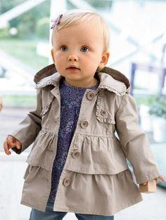 2013 nuevo estilo de Otoño, los niños coreanos abrigo de trinchera de todo el algodón de doble botonadura de las niñas sobretodo escudo de los niños de 3 a 7 años 5 unidades/lote QS388, $15.0 desde judykayla en m.es.dhgate.com | DHgate Mobile