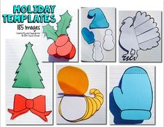 Huge bundle includes 185 holiday shapes 7 templates: Interactive Notebook Templates & Shapes Bundle {Commercial Use Allowed}