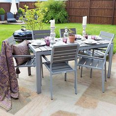 Tesco Direct: Outdoor Furniture Polywood Dining Table Set   6 Seater