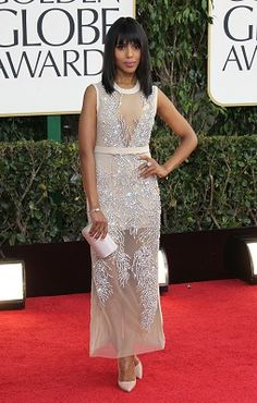 I'm going with Kerry Washington as my best dressed winner from last night's Globes.