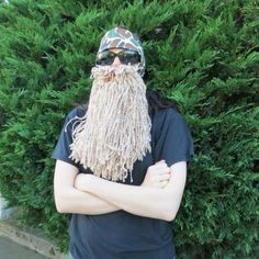 You don't need a giant self-grown beard to dress up as these mountain men — all this costume requires is a pair of sunglasses, a headband, and a tolerance for yarn going in your mouth.  See more on eHow »