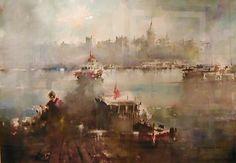 Orhan Gürel. (1952, Sivas)-Turkish Painter. city