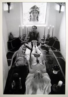 Salvador Dalí and Lotte Tarp by Werner Bokelberg, 1965.