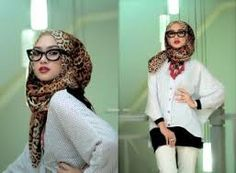 hijab style for round face - Google Search