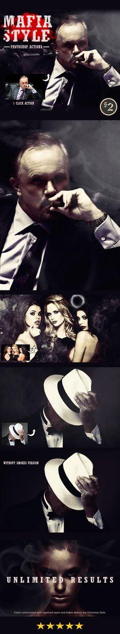 Mafia Styles Photoshop Actions #photoeffect Download: http://graphicriver.net/item/mafia-styles-photoshop-actions/13919893?ref=ksioks