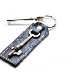 Leather vintage key fob