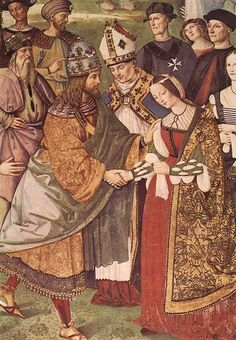 detail of fresco painting of frederick iii's betrothal to eleonora of portugal by pinturicchio - Google Search