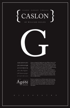 "Caslon Typography Poster - Shannon Edgar (my teacher always said: ""If in doubt: Set it in Caslon."")"