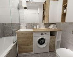 łazienki w stylu skandynawskim - Mała łazienka, styl nowoczesny - zdjęcie od Grafika i Projekt architektura wnętrz