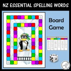 New Zealand Essential Spelling Lists 1-7 (+ commonly misspelt words). A fun board game to help your students learn their spelling words. The variety of boards will give them a sense of choice and will help to keep them motivated to play. The cute graphics are bound to appeal to both you and your Activity Sheets, Activity Centers, Literacy Centers, Spelling Lists, Spelling Words, Word Board, Fun Board Games, School Resources, Student Learning