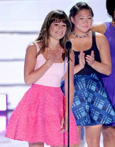 Lea Michele at the Teen Choice Awards and her touching speech for Cory.