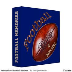 Personalized Football Binder with his Number and Name and Change to your Team COLORS CLICK: http://www.zazzle.com/personalized_football_binders_your_number_and_name-127218004536312374?rf=238012603407381242 Great Senior Football Gifts for guys or the entire football team gifts for kids. See more personalized football senior night gift ideas HERE: http://www.Zazzle.com/YourSportsGifts*  Call Rod or Linda for HELP and Changes: 239-949-9090