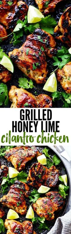 Perfectly grilled tender and juicy chicken marinated in a honey lime cilantro ma. Perfectly grilled tender and juicy chicken marinated in a honey lime cilantro marinade. The flavor of this chicken i Chicken Diet Recipe, Chicken Marinade Recipes, Marinated Chicken, Salmon Recipes, Grilled Chicken, Grilling Recipes, Recipe Marinade, Grilled Cauliflower, Weights