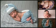 Photography Prop Collage - photography blankets, stocking sets, legwarmers, tie back headbands and baby bowls by ReiLynn Designs