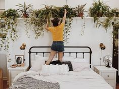 """1,660 Likes, 60 Comments - GRACE & THORN (@graceandthorn) on Instagram: """"Now this is how you do bedroom plants @branchabode  #greenupyourgaff #hownottokillyourplants"""""""