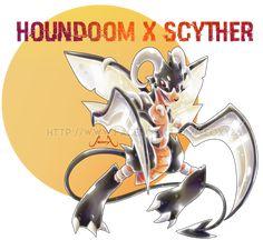 Houndoom X Scyther by Seoxys6 on DeviantArt