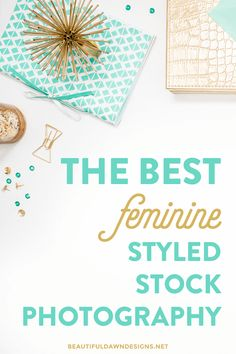 Sharing where to find feminine styled stock photography for your blog or business.