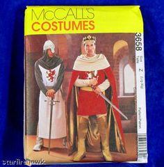 McCalls Pattern 3658 Men King Arthur, Knight sz LG-Xlg on eBay!