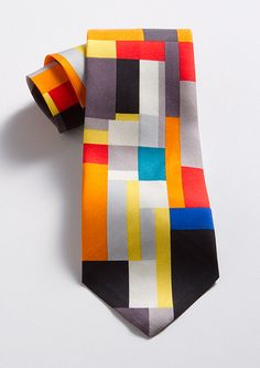 Grey Diamond Tie, Ties, Apparel & Accessories - The Museum Shop of The Art Institute of Chicago