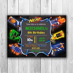 NERF invitation Nerf Birthday invitation Nerf Party
