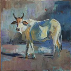 Watercolor Landscape Paintings, Landscape Art, Watercolor Paintings, Indian Paintings, Animal Paintings, Cow Drawing, Poster Color Painting, Art Painting Gallery, Indian Folk Art