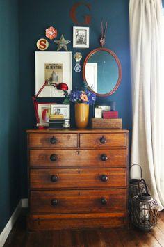 The Luxurious Little Home of Sooz Gordon House Tour   Apartment Therapy -- wonderful wall colour